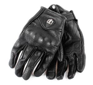 Rétro Harley gants d'équitation moto anti-chute de course de cuir gants gants de peau de chèvre chevalier d'été perforés