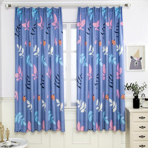 Leaves Printing Window Curtain Nordic Style Shading Drapes Living Room Bedroom Curtains Decor for Window Drapes