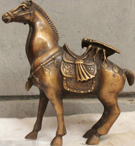Chinese China Folk Culture Pure Handmade Old Bronze Brass Statue Horse Sculpture