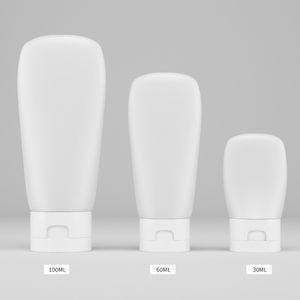 30ml 60ml 100ml portable PE-Schlauch Squeeze-Flasche leer Mehrwegflasche aus Kunststoff Kosmetik mit Flip Cap Hand Sanitizer Lotion Shampoo-Flasche