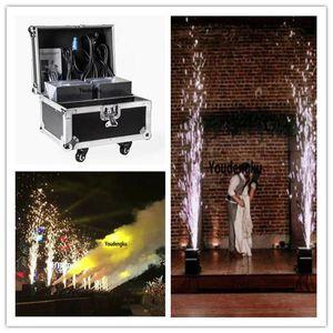 2шт с flightcase 700 Вт DMX512 управление ИК дистанционное управление холодный фейерверк машину DMX огонь машина безопасная холодная машина для свадьбы