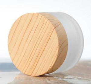 Nova 5 g 10g 15g 30g 50g transporte livre 100g cosmético frasco creme creme composição vazia pode ser cheia recipiente de bambu carvão garrafa embalagens