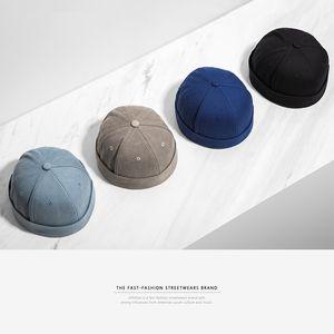INFLATION 2019 New Chinese-Style Round Hat Unisex Snapback Paar Caps Bördel Einfarbig Mode Herrenhüte 073CI2017 Y200110