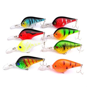 8pc lot Fishing Lures Crank Lures Wobbler Floating Fishing Tackle Crankbait Hard Baits With High Carbon Steel Hooks Pesca