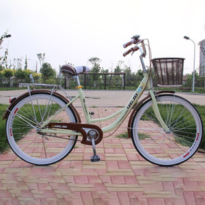 High quality carbon steel material 24 inch tire thickness equipped ladies bike