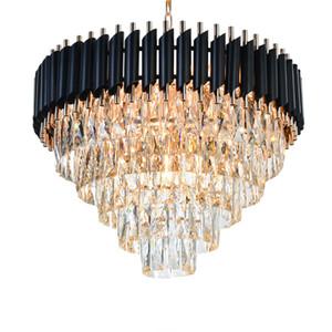 Gute Qualität K9 Kristall Kronleuchter Hängebeleuchtung Leuchten Hängende Glanz für Restaurant Kristall Amerikanische Stil Lampe