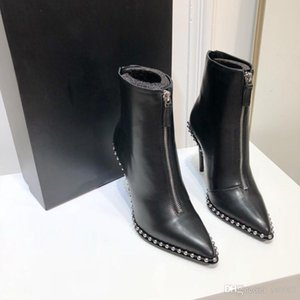 kısa botlar Flat fermuar kış Tasarımcı Martin botları dipli Yüksek kaliteli sığır derisi Metal toka lüks kadın ayakkabı bot sj19092732