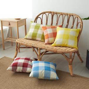 Plaid Pillow Covers Classic Check Throw Pillow Case Linen Decorative Pillowcase Sofa Couch Cushion Cover Bedding Supplies 14 Designs M1605
