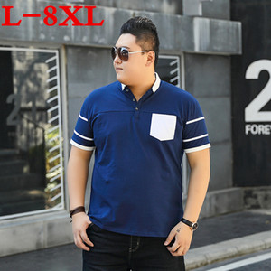 9XL 10XL 8XL plus size Men polos Solid Short-Sleeve Loose Fit Mens Embroided Shirt Men polos Shirts Casual Camisa