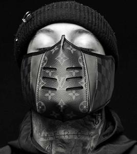 Lastest Máscaras de cuero máscara de diseño, a prueba de polvo Equitación Deportes Imprimir Máscaras de boca Hombres y mujeres al aire libre Mantenerse seguro con estilo con caja