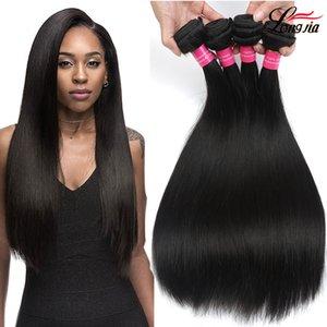 8A Virgin Brésilien Non traité Cheveux raides Bundles offre Cheap Human Hair Tissages Brésil Pérou droite Vierge humaine Hair Extensions