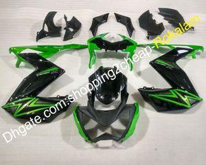 Para Kawasaki Z250 Z3 2015 2016 Z 250 Z300 15 16 Z 300 Green Black Motorcycle Fairing Set de Cowling (moldeo por inyección)