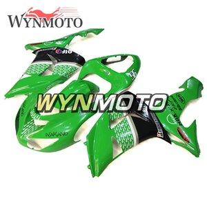 ABS Plástico Inyección de motocicleta Carenados completos para Kawasaki ZX10R ZX-10R 2006 2007 NINJA ZX-10R 06 07 Carrocería Verde Lustre Cubiertas de gotas de lluvia