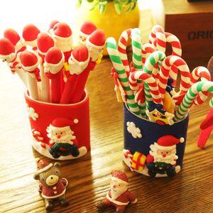 çocuk Noel ev dekorasyon Partisi dekorasyon Noel Favor için Noel Santa Claus snowmanCrutches Tükenmez kalem oyuncak hediyeler