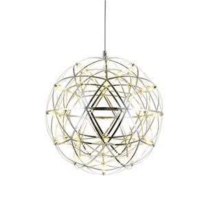 Modern Spark Ball Pendant Lights fixture Firework Ball Pendant Lamp Stainless Steel AC 110-240V Loft Bedroom Hanlamp