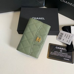 Classic CF small card bag arrived litchi grain lingge line retro hardware is very fashionable fashion trend leisure demeanor