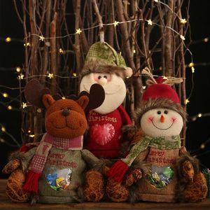Christmas Nonwoven Cartoon Apple Bag Children Candy Gift Bag Home Decor
