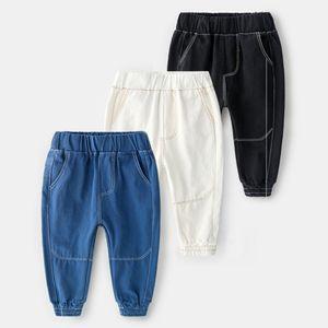 2-8Y Baby Pants Kids Pants for Fashion Denim Boy Children Sports Trousers 4 Colors Jeans Slacks Bottom Sweatpants For Boys New