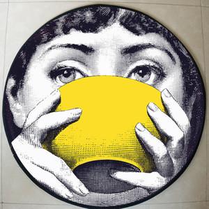 Alta qualità lina Tappeti rotonda Tappeti Soggiorno Zerbino Cartoon Tappeti Porta Tappetino per Camera lina Carpet Y200417