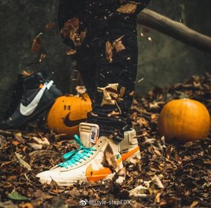 2020 Off-White x Nike Blazer Mid High Quality Orange Black All Hallows Eve Blazers MID Grim Reepers running shoes basketball shoes