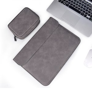 PU Leather Laptop Sleeve Soft For Macbook Air Pro 13 14 15 inch Laptop Bag 13.3 Notebook Tablet Case For Xiami DELL Lenovo Cover