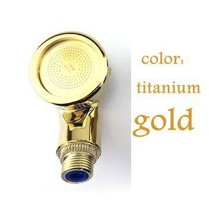 Salão de beleza Titanium ouro Anion pressurizado Chuveiro Shampoo Bed Handheld Massagem Flushing Gun Filtro Barbershop SPA Bico