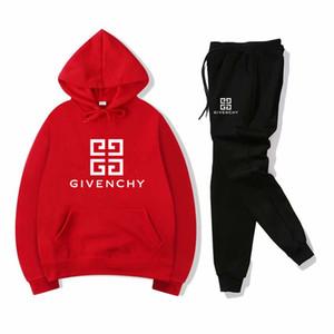 Новые дизайнерские бренды детская осень комплект одежды дети мальчик девочка с длинным рукавом с капюшоном топ + брюки 2 шт. Костюмы мода спортивный костюм наряды