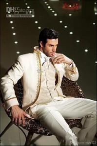 Nouveau Design sur mesure Taille et couleur Tuxedos Groomman Suits Groomsman (veste + pantalon + cravate + gilet) 118