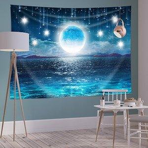 150 * 200cm poliestere Arazzi Living Room Decor sfondo stellato casa Camera Murales di stampa Scenario Piante Tapestry DH0940-2 T03