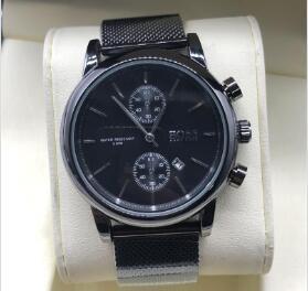 Relojes para hombre de primeras marcas de lujo Big-BOSS Relojes Moda Casual Malla de acero Hombres Reloj de cuarzo Reloj Hombres Relogio masculino Envío de la gota