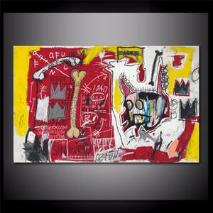 Jean Michel Basquiat Etmeyin İntikamı 1982, HD Tuval Baskı Yeni Ev Dekorasyon Sanat Resim / (Çerçevesiz / Çerçeveli)