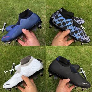 La meilleure qualité Phantom VSN Elite DF SG Football Bottes jeu royal Lux noir sur RECHARGÉES hommes Crampons haute cheville Size39-45
