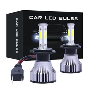 Mini 4 panels COB lights H1 H3 H7 H8 9005 9006 5202 h4 9004 880 led car headlight kit 16000LM 72W 6500K lamp IP68 waterproof front fog bulb