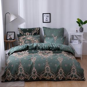 YAXINLAN de cama de algodão conjunto de cores Pure Patterns Plante flores Fashion Bed folha de quilt cover fronha 6pcs novo produto