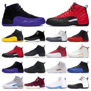 jordan Erkek Basketbol ayakkabı 12 s Winterized WNTR Spor Salonu Kırmızı Michigan Siyah Bordo 12 Master Grip Oyunu taksi spor sneaker eğitmenler boyutu 7-13