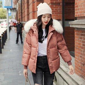kış kalın katı parka kadın pamuk yastıklı ceket manteau femme kapüşonlu kürk yaka kadın rahat sıcak kabarcık ceket miegofce