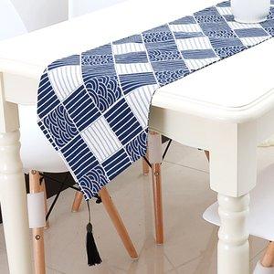 200cm * 28cm Camino de mesa moderno chemin de table Camino de mesa para banquete de boda camino de mesa tafelloper Mantel individual geométrico Textil para el hogar