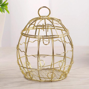 Wedding Favor Box European creative Gold Metal Boxes romantic wrought iron birdcage wedding candy box tin box Wedding Favors LX1964