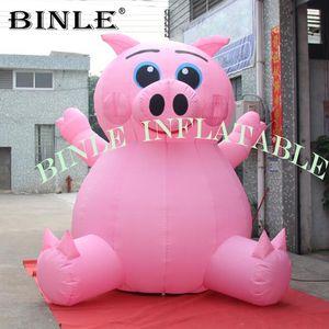 حار بيع يجلس العملاق نفخ خنزير الوردي مع منفاخ الهواء الطلق ديكور الكرتون الحيوان خنزير تحلق للدعاية