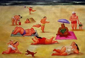 Fernando Botero Home Decor Handbemalte HD-Druck-Ölgemälde auf Leinwand-Wand-Kunst-große Bilder 191124