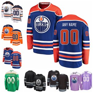 Edmonton Oilers Hockey personalizada 25 Darnell enfermera Jersey 44 Zack Kassian 74 Ethan Tomas oso Jurco Mateo Benning Alex Chiasson Hombres Mujeres Niños