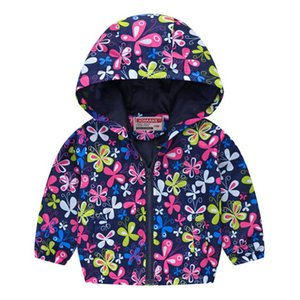 Clothes Boys Jackets Children Hooded Zipper Windbreaker Baby Fashion Print Coat Infant Waterproof Hoodies For Girls cartoon coat