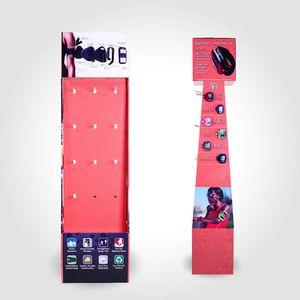 Multifunzionale Logo personalizzato supermercato al dettaglio Hang scaffale carta vendita Mobile Display Phone Case / Cellulare cartone accessori Display Rack