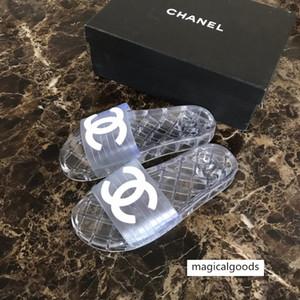 Paris Luxury Designer Sliders Womens Summer Sandals Beach Slippers Ladies Flip Flops Loafers Black White Blue Slides Chaussures Shoes