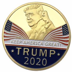 Donald Trump Moeda Comemorativa 2020 Moedas presidente americano Ouro do emblema de prata Mantenha Supplies Eleitorais América Grande EUA
