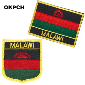Free Shipping Malawi Flag Embroidery Iron on Patch 2pcs per Set PT0113-2