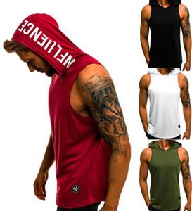 Fashion Summer Mens Sleeveless Hoodie T-Shirts Muscle Sweatshirt Cool Hoody Tops GYM Sport Slim Fitness Hooded Sportswer Tees
