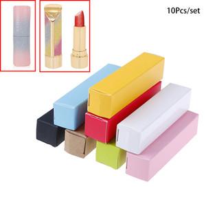 10pc / lot 20 * 20 * 85 milímetros Lip Tubo Embalagem Carton Box DIY Batom tubo da caixa de ferramentas