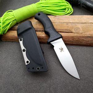 Mad Dog faca linear ATS-34 liga de aço inoxidável fixo bainha de material de alça K lâmina G10 compósito com moagem facas de sobrevivência lâminas