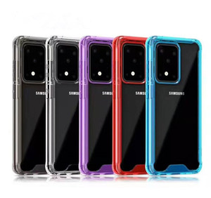 حالات واضحة الاكريليك سيليكون لمدة 11 فون برو ماكس 6 7 8Plus XS XR سامسونج S9 S10 S11 S105G ملاحظة ماتي 20
